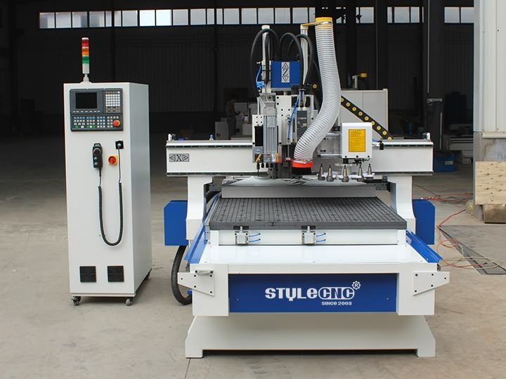 The First Picture of Disc Automatic Tool Changer CNC Router STM1325D with ATC system