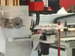 Video of  all-rounder work center for wood funiture production line
