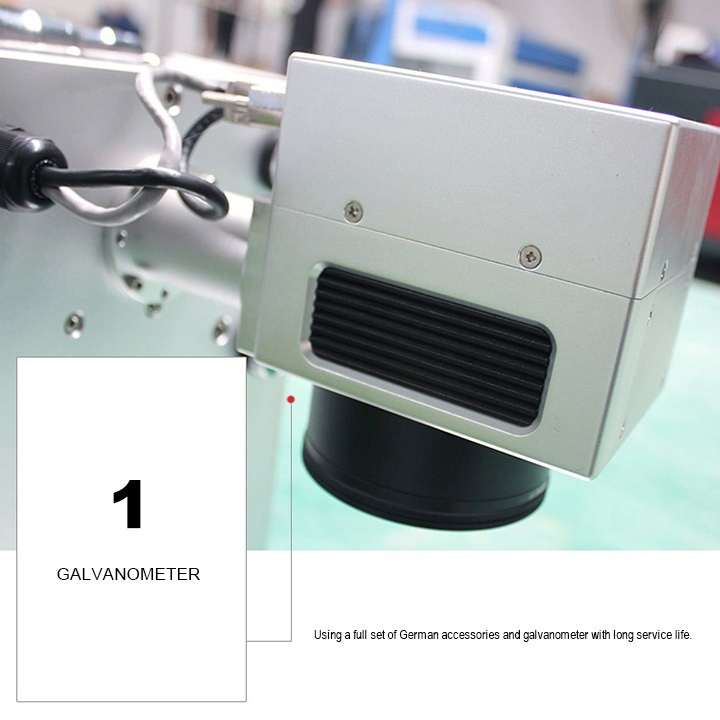 Portable fiber laser marking machine galvanometer