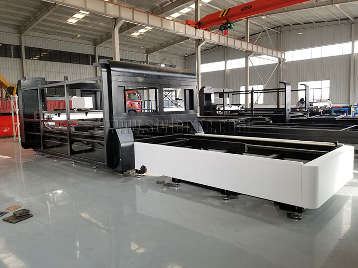 Fiber metal laser cutting machine exchnage pallet