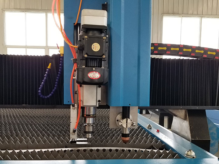 The Second Picture of Cheap CNC Plasma Cutting Drilling Machine with Flame Torch