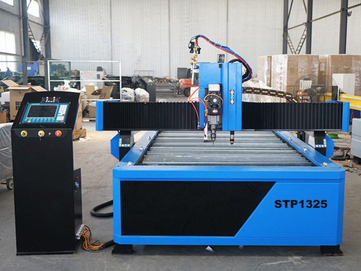 The First Picture of Cheap CNC Plasma Cutting Drilling Machine with Flame Torch