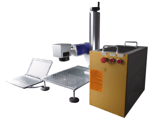 Mini fiber laser marking machine video