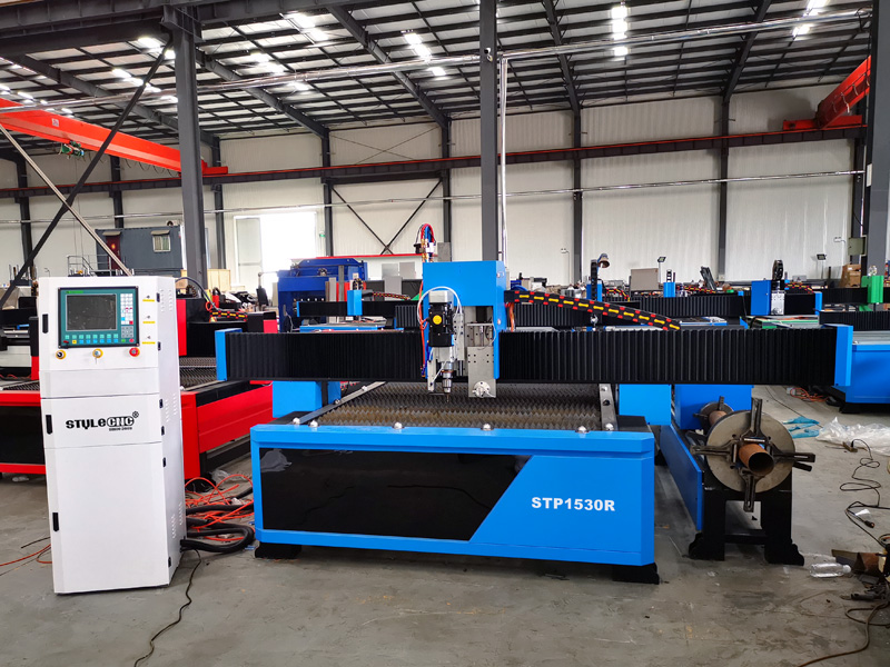 The First Picture of Square&round tube CNC plasma cutting machine