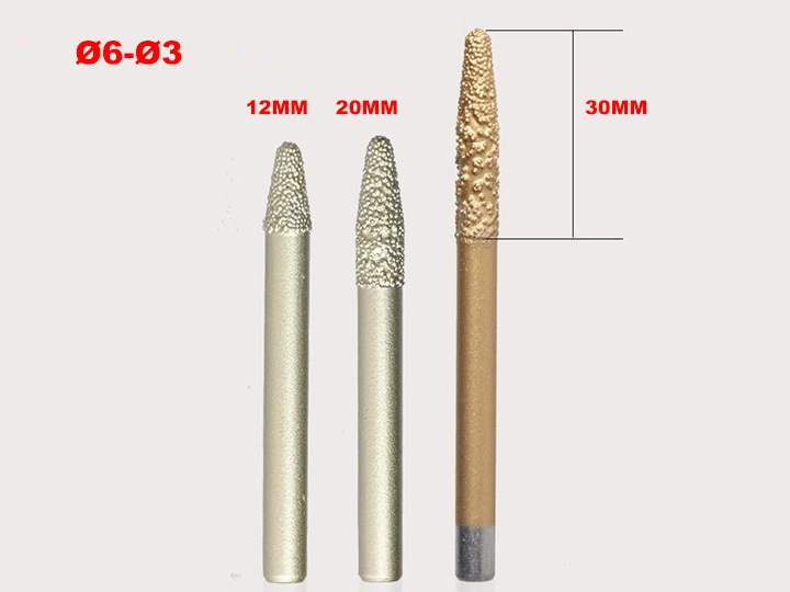 The Fourth Picture of Tapered Diamond 3D Deep Relief Bits for Marble, Granite