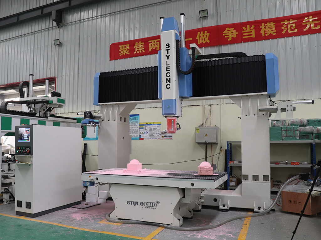 5 axis CNC router in factory