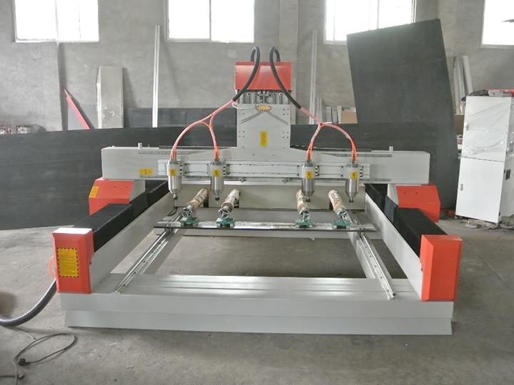 The First Picture of Affordable 3D Carving CNC Router Machine with Four Heads for Sale