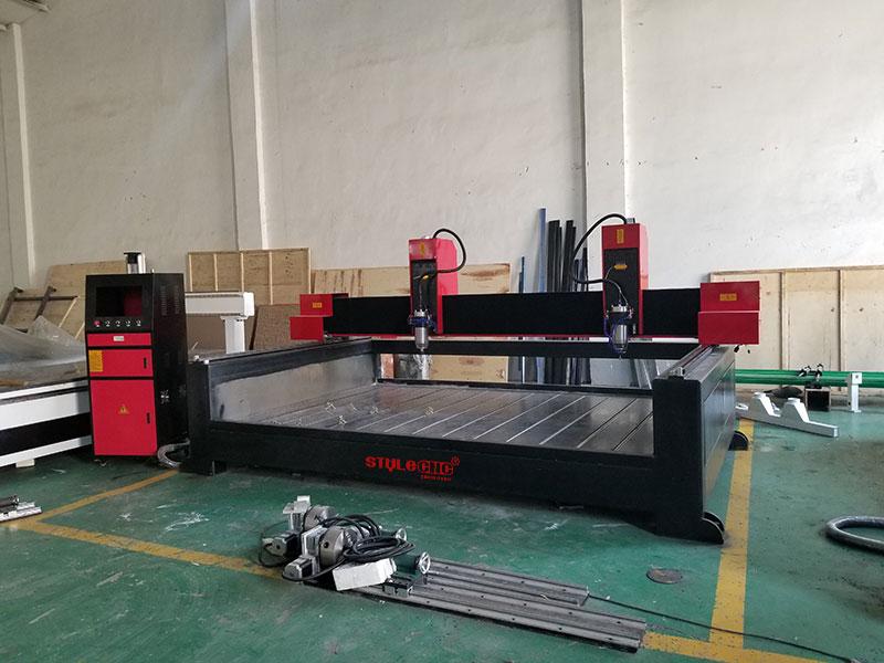 Dual Spindles 3D CNC Stone Carving Machine