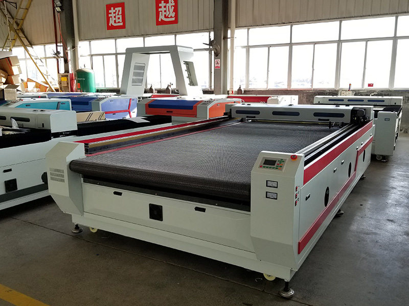 The First Picture of Fabric Laser Cutting Machine with Large Format