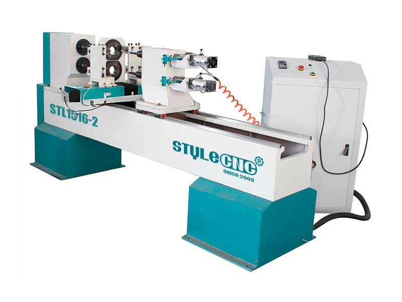 double axis CNC wood lathe and turning machine