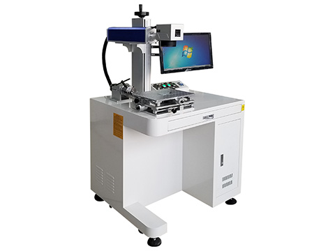 Laptop backlit keyboards laser marking machine with MOPA fiber