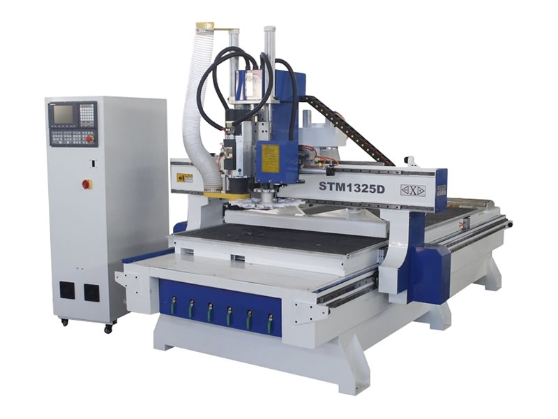 Disc ATC CNC Router with 4th rotary axis