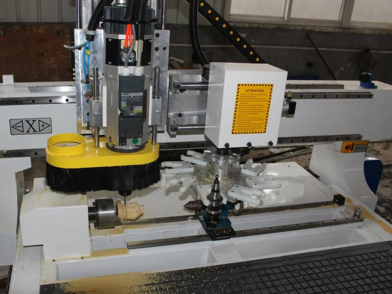 The Fourth Picture of ATC CNC Router with Automatic Tool Changer Spindle for Sale