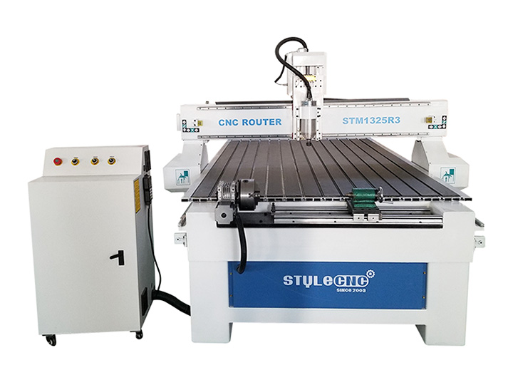 The Second Picture of 1325 CNC Router with 4 Axis Rotary Table