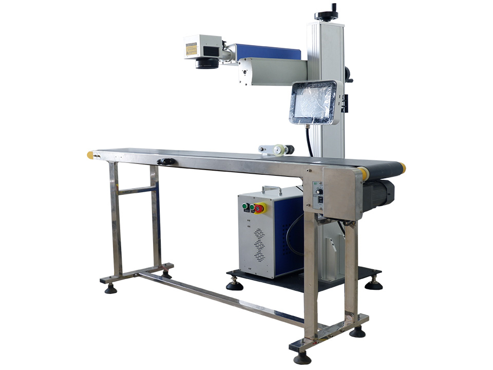 The First Picture of Online Flying Laser Marking Machine with Fiber Laser Source