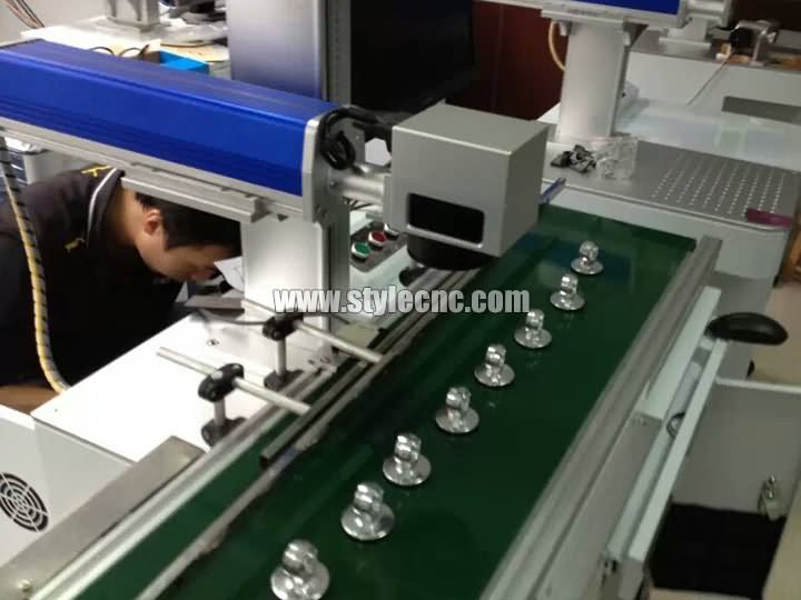 The Second Picture of STYLECNC® Online flying laser marking machine with 10W/20W fiber laser