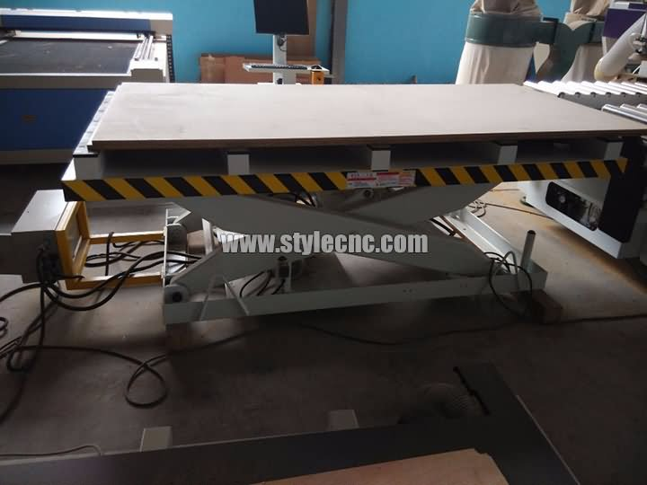 The Fourth Picture of Automatic nesting CNC router machine with automatic loading and unloading system