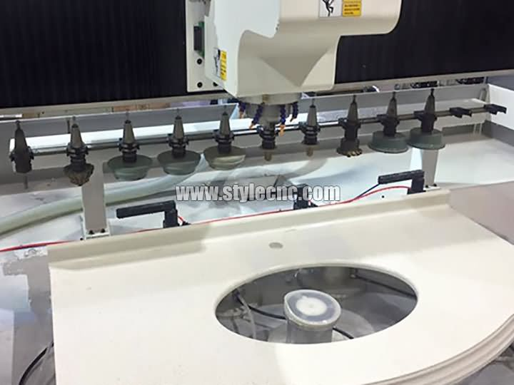The Second Picture of CNC Machining Center for Stone Cutting and Polishing