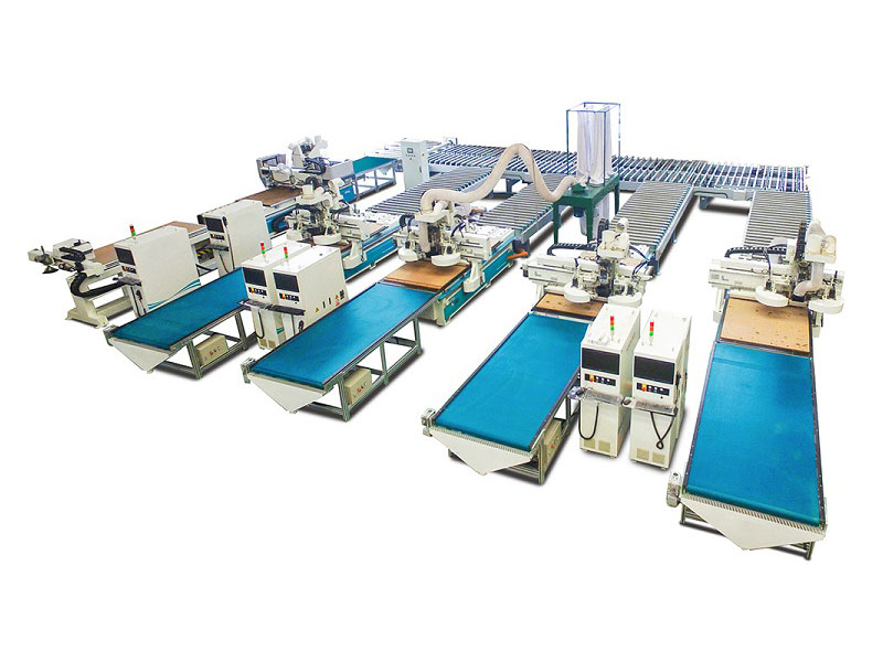 intelligent panel furniture production line
