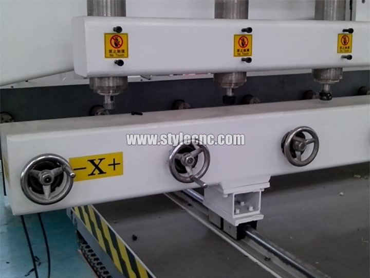 The First Picture of STYLECNC® CNC Router with 4 axis rotary and 8 heads