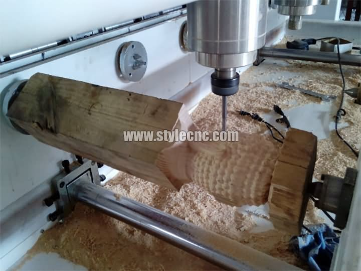 The Third Picture of STYLECNC® CNC Router with 4 axis rotary and 8 heads