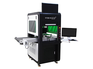 Enclosed fiber laser marking machine for metal