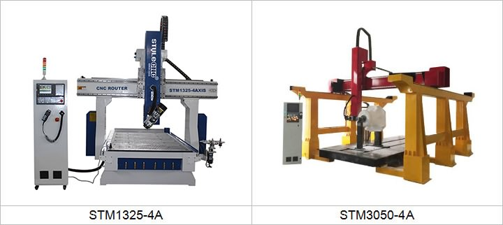 4 Axis CNC Routers for woodworking