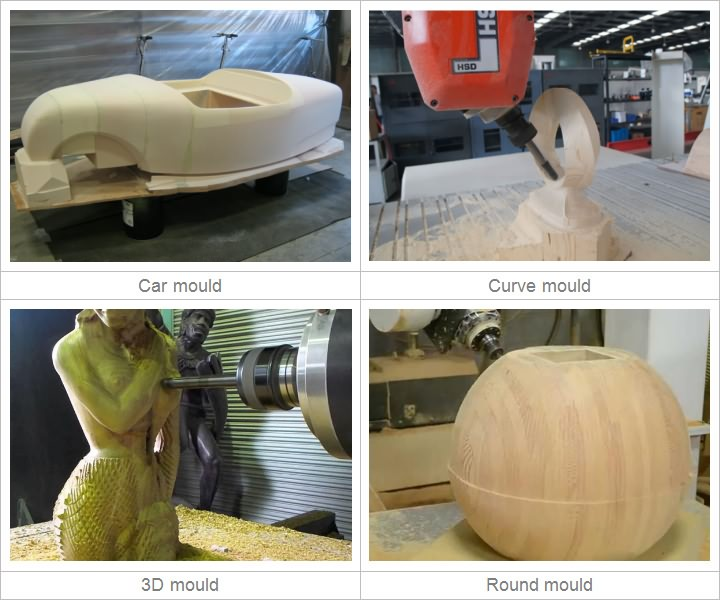 5 Axis CNC Router applications for woodworking
