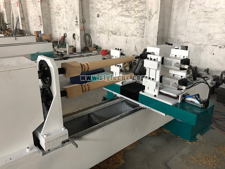 Double Axis Wood Lathe Machine