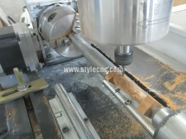 Mini Desktop CNC Router 4th axis rotary