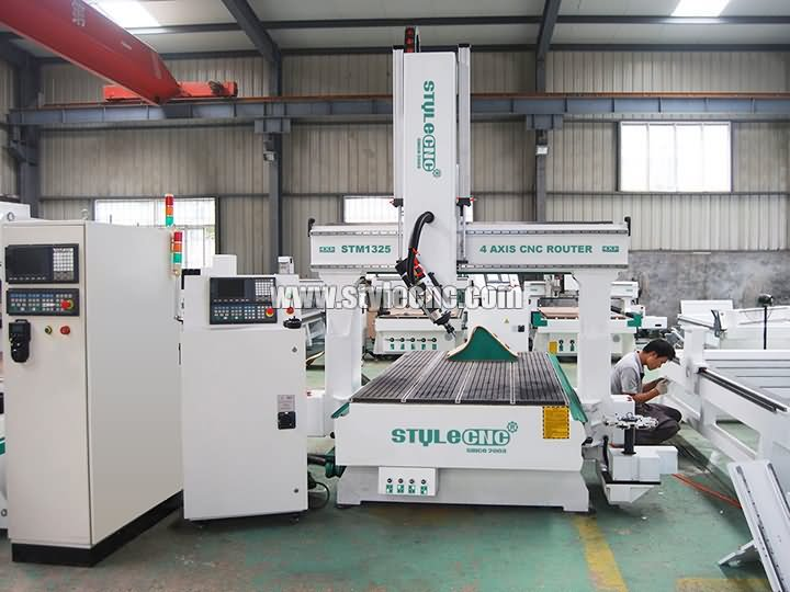 The Second Picture of STYLECNC® 4 axis CNC Router for sale with cost price