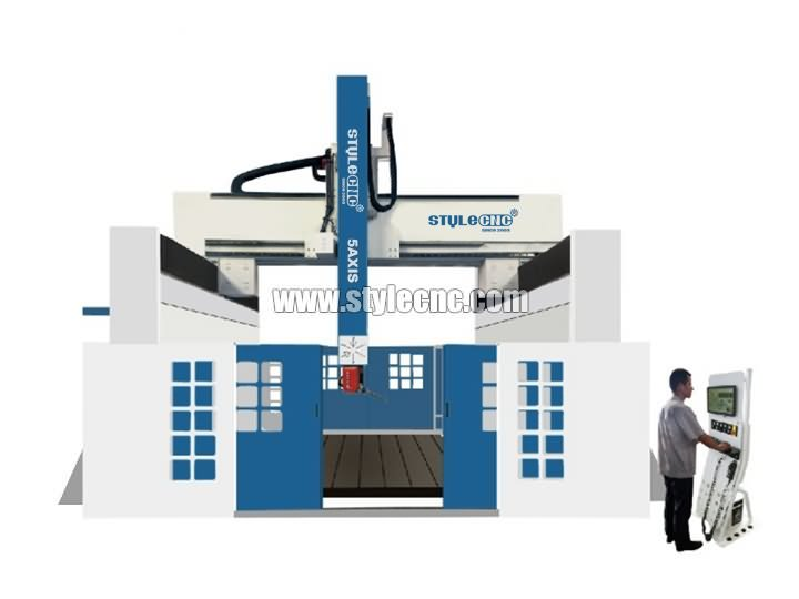 The First Picture of Industrial 5 Axis CNC Router Machine for 3D Milling and Carving
