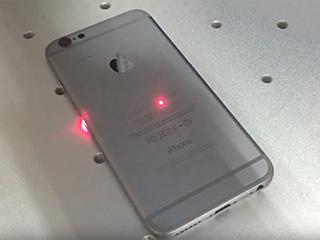 Fiber laser marking machine mark on iphone case video