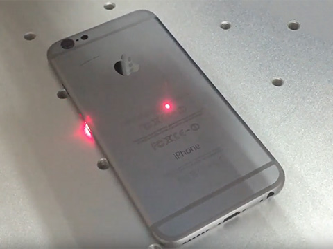Fiber laser marking machine mark on iphone case video