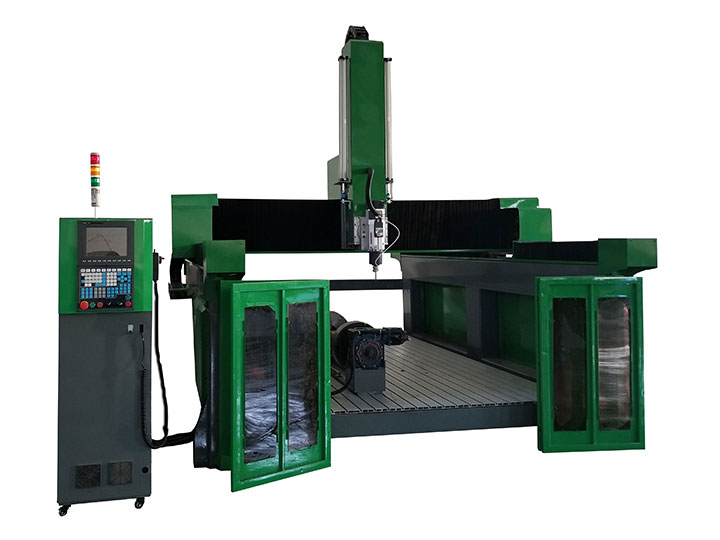 The First Picture of 4 Axis EPS CNC Router Machine for Foam, Wood, Aluminium Mold Making