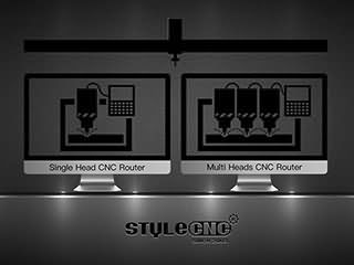 What's the difference between single head and multi heads CNC router?