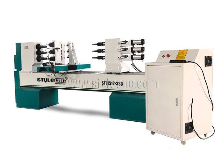 The First Picture of 3 Axis Wood Lathe Machine for Wood Turning