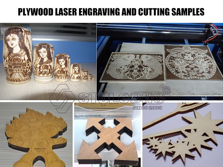 Plywood engraving and cutting samples