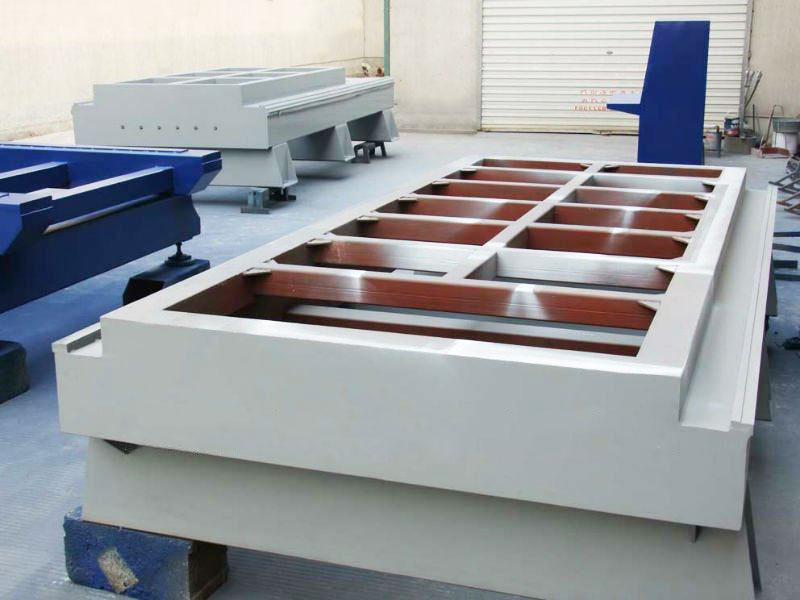 The structure of the CNC wood router bed