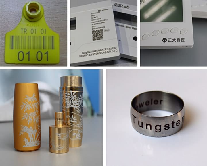20W fiber laser marking machine projects
