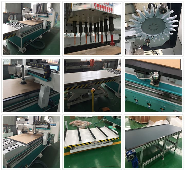 Details of Full Automatic CNC Router Panel Furniture Production Line