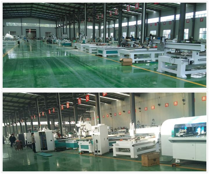 Full Automatic CNC router furniture production line workshop