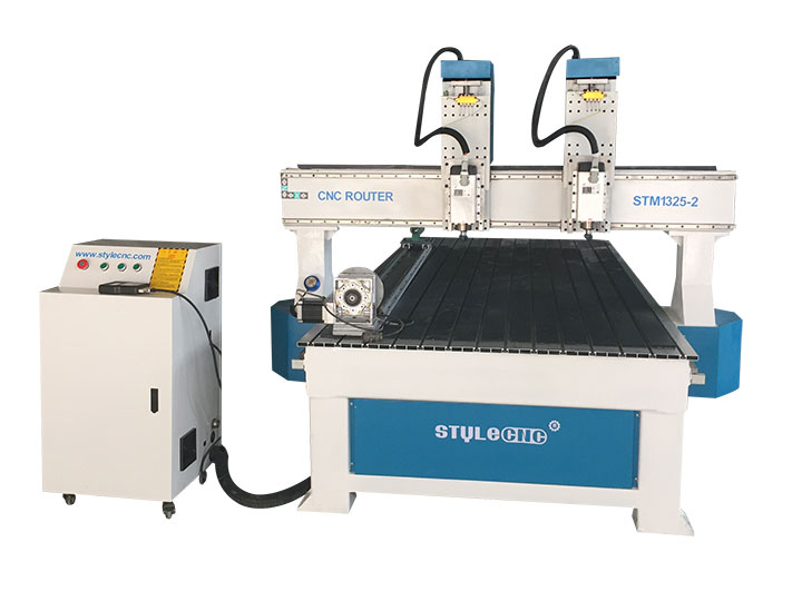 The First Picture of Dual Spindles Wood CNC Machine with 4x8 Table Size for Sale