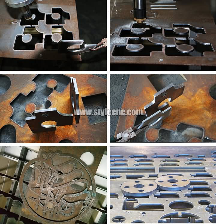 Industrial CNC Plasma Table with Flame Cutting Torch for Metal Projects