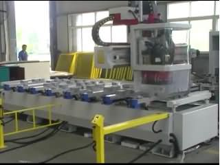 Single Arm Wood CNC Router Process Center with auto tool changer