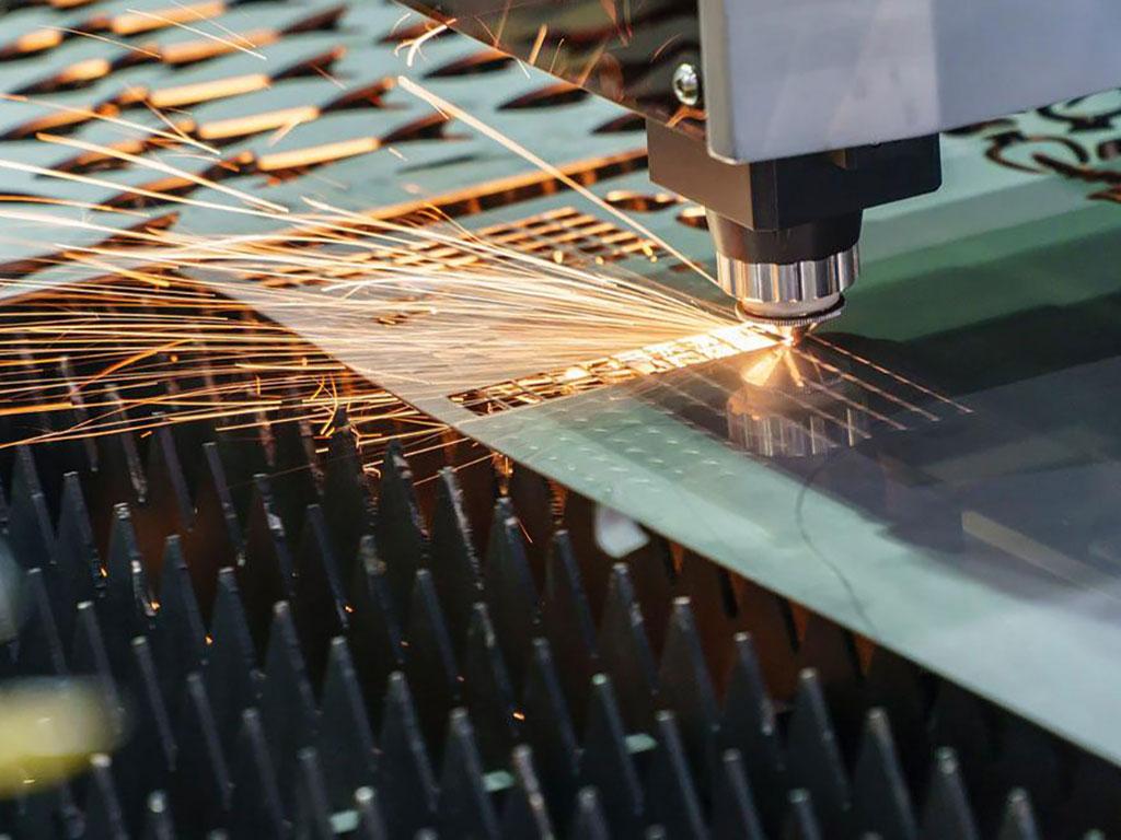 Laser metal cutting machine samples