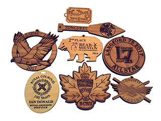 Woodcraft laser engraving and cutting samples by CO2 laser cutter