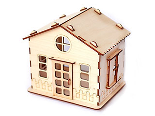 Woodcraft 3D Puzzle dollhouse making by CNC router and CNC laser machine