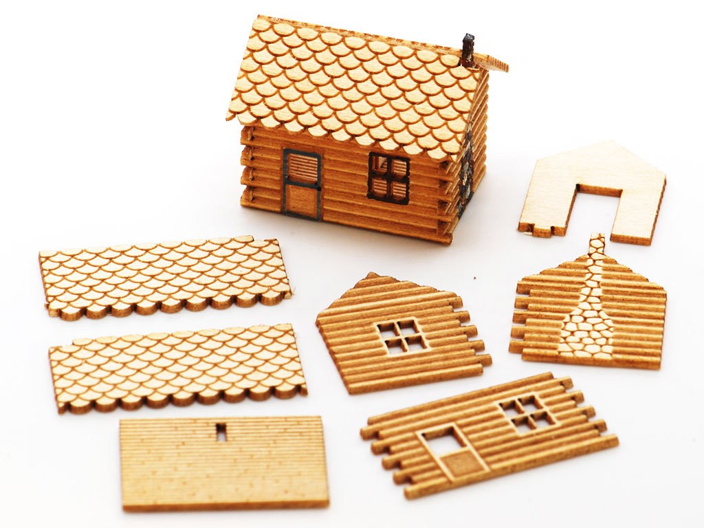 3D Laser Wood Cutting Machine Samples by CO2 Laser Cutter