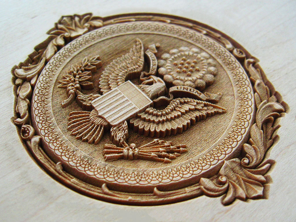3D laser wood engraving machine project